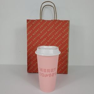 Starbucks 'MERRY COFFEE' Light Pink Grande Hot Cup